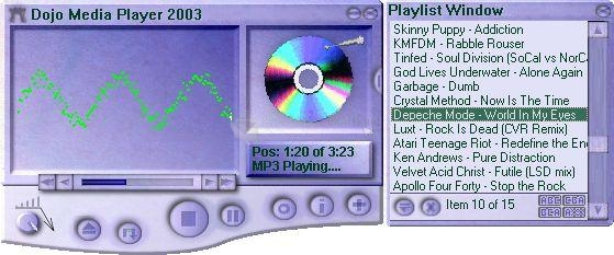 Pantallazo Dojo Media Player 2003
