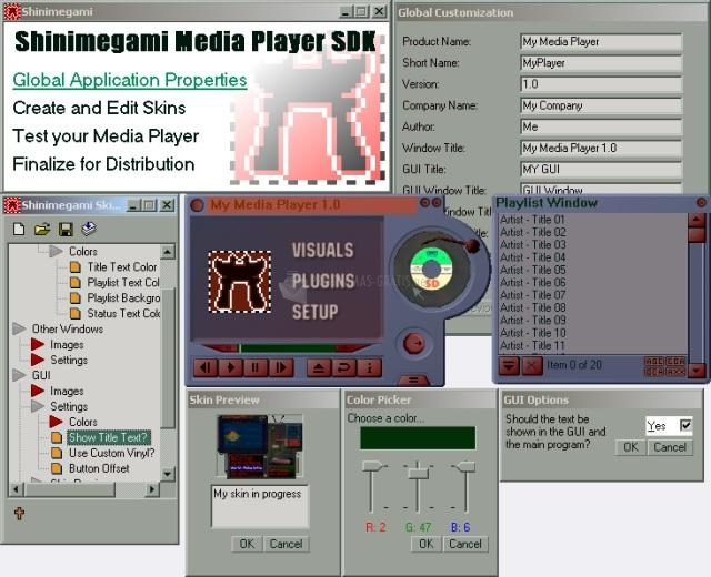 Pantallazo Shinimegami Media Player