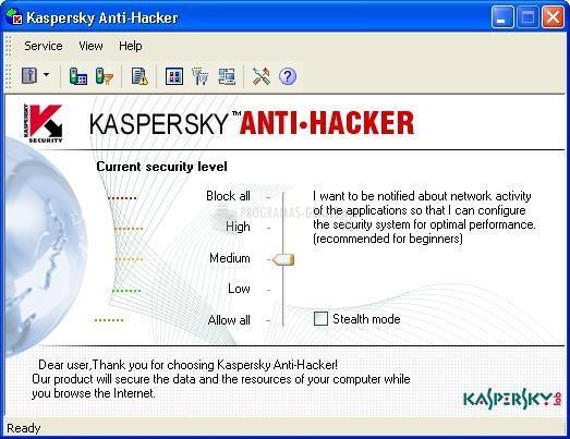 Pantallazo Kaspersky Anti-Hacker