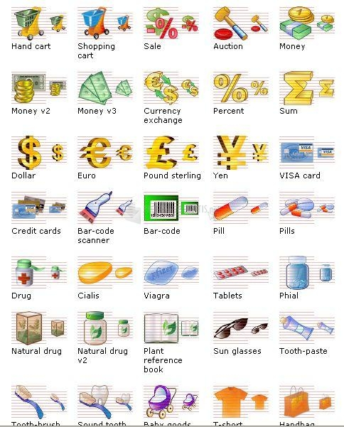 Pantallazo i-Commerce Icon Set