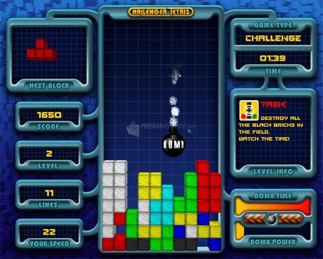 Pantallazo Challenger Tetris
