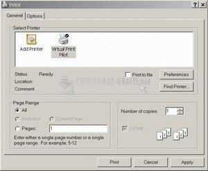 Pantallazo Virtual Print Pilot