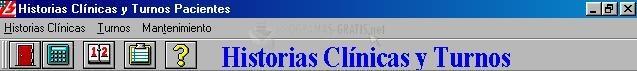 Pantallazo Historias clínicas y Turnos