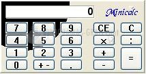 Pantallazo Mini Calculator