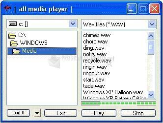 Pantallazo Webxpace Wav Player