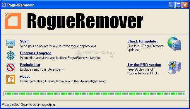 Pantallazo Rogue Remover