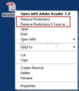 Pantallazo A-PDF Restrictions Remover