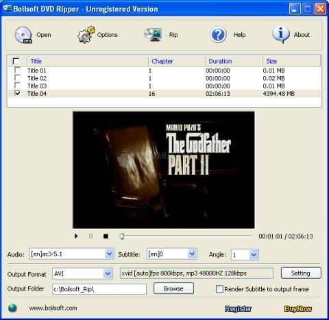 Pantallazo Boilsoft DVD Ripper