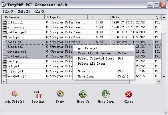Pantallazo VeryPDF PCL Converter