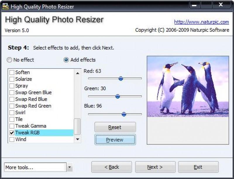 Pantallazo High Quality Photo Resizer