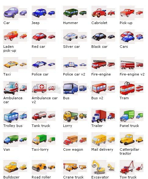 Pantallazo Transport Icon Set