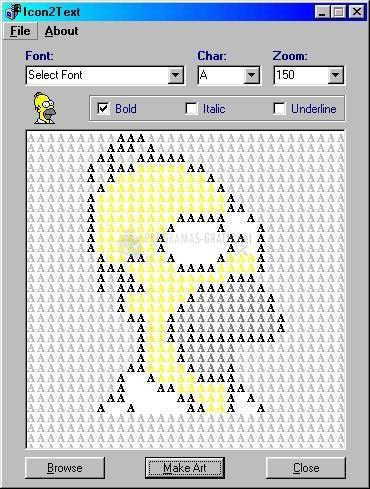 Pantallazo Icon2Text