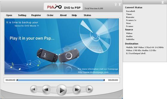 Pantallazo Plato DVD to PSP Converter