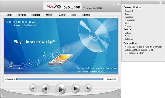 Pantallazo Plato DVD to 3GP Converter