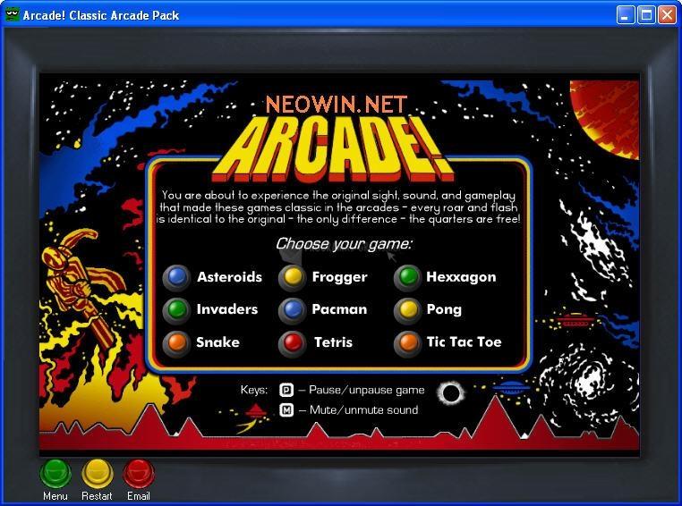 Pantallazo Classic Arcade Pack
