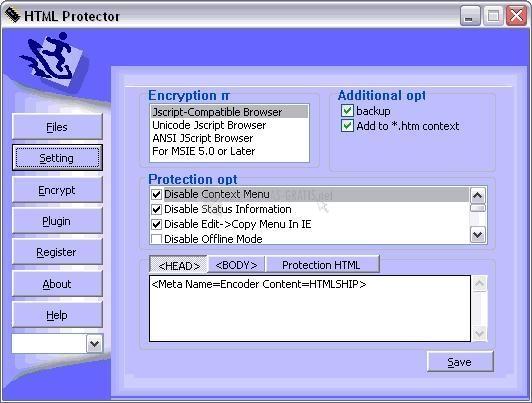 Pantallazo Topland HTML Protector