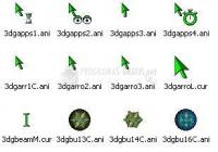 Foto 3D Green Animated Cursors