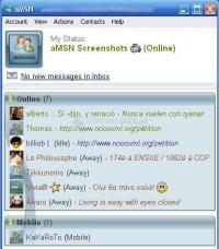 Captura aMSN Messenger