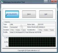 Pantallazo Shareaza Acceleration Tool