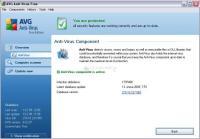 Pantalla AVG Anti-Virus Free Edition
