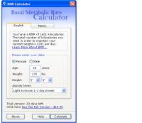 Pantallazo BMR Calculator