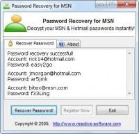 Pantallazo MSN Password Cracker