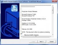 Pantallazo Controlador del Acelerador 3D de Intel para XP