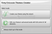 Pantallazo Sony Ericsson Themes Creador