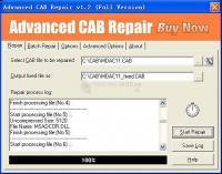 Pantallazo Advanced CAB Repair