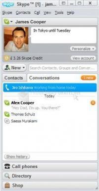 Pantalla Skype